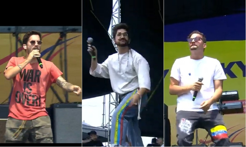 Ricky Montaner, Camilo Echeverry y Mau Montaner, cantantes.