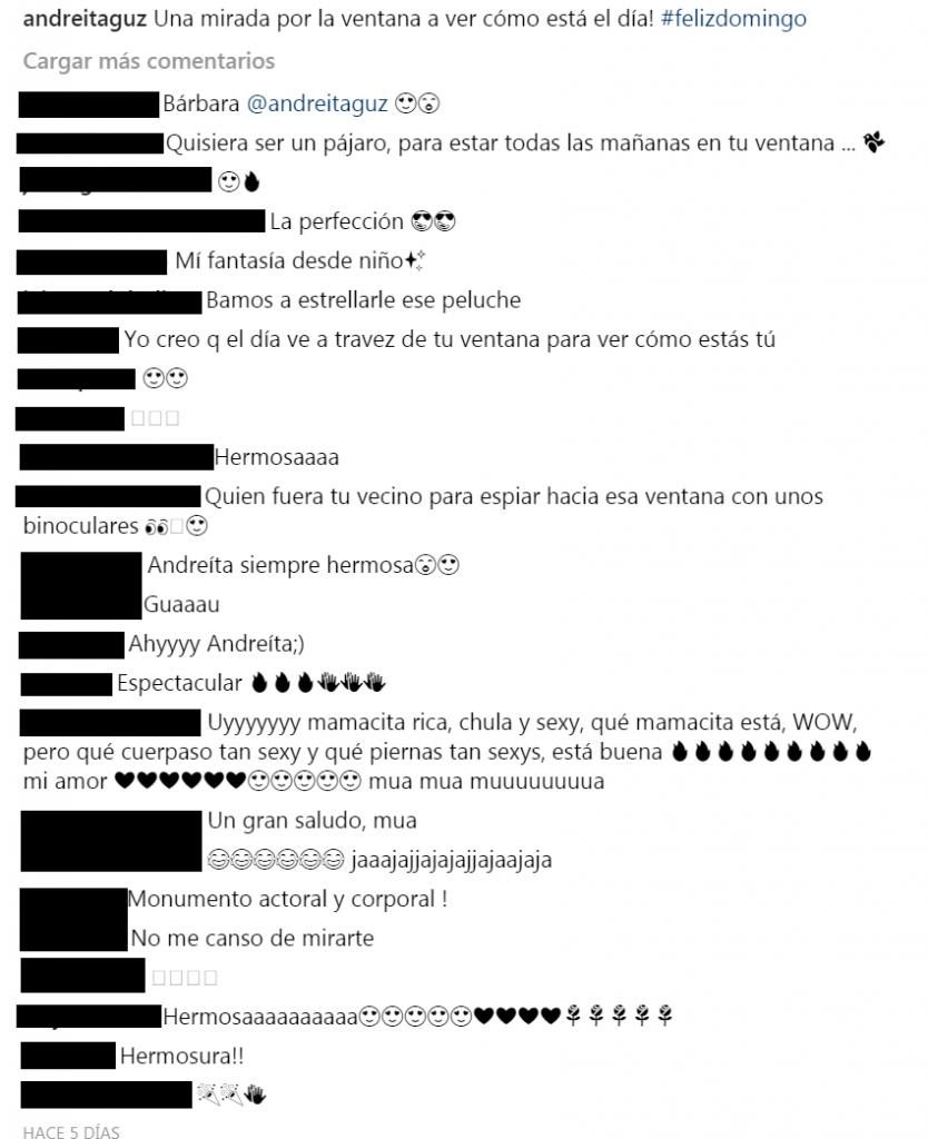 Comentarios a foto de Andrea Guzmán
