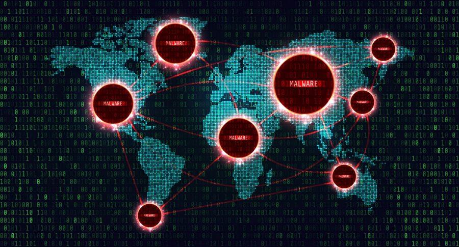 Ilustración de ataque informático
