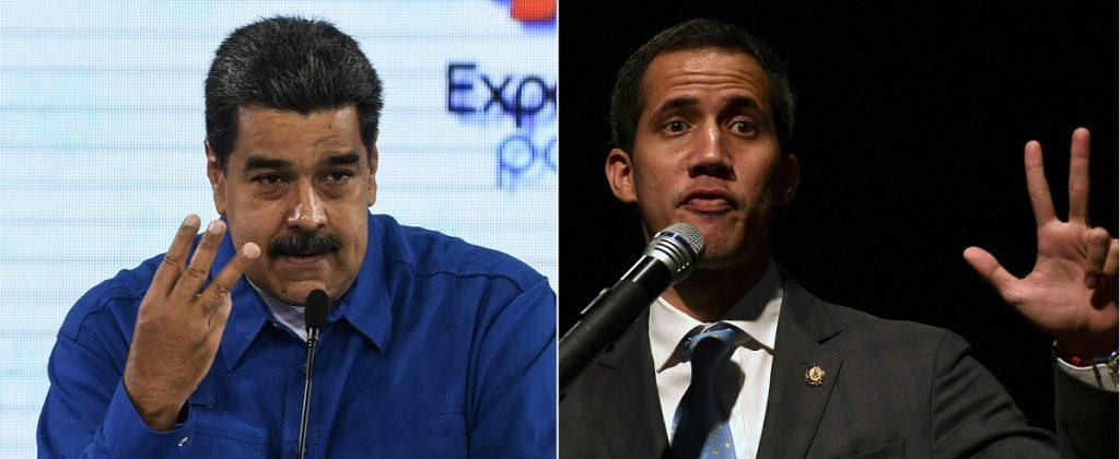 Nicolás Maduro y Juan Guaidó, presidentes de Venezuela.