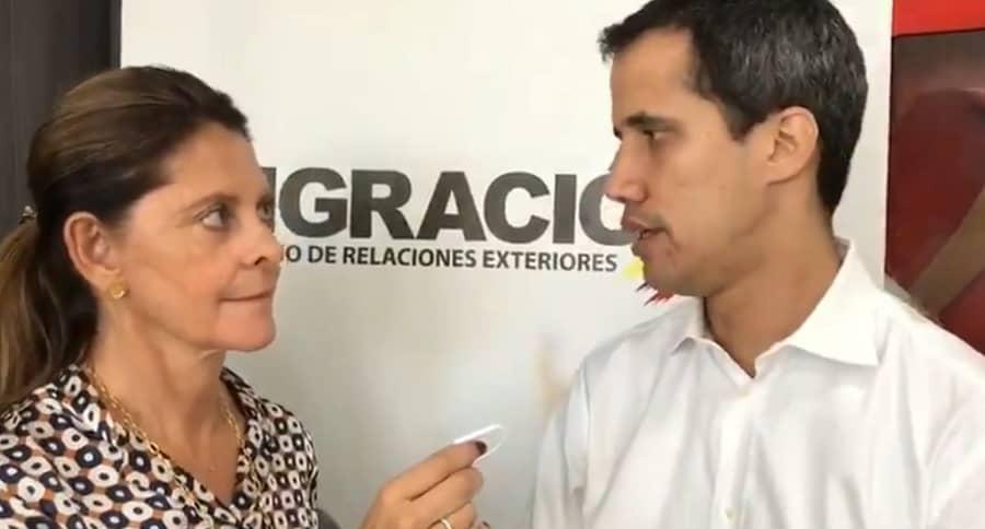 Marta Lucía Ramírez y Juan Guaidó