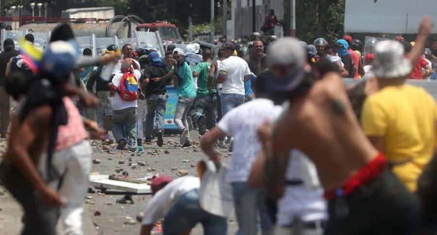 Choques en la frontera de Colombia y Venezuela
