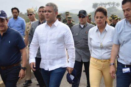 Iván Duque, presidente de Colombia, y Marta Lucia Ramírez, vicepresidenta.