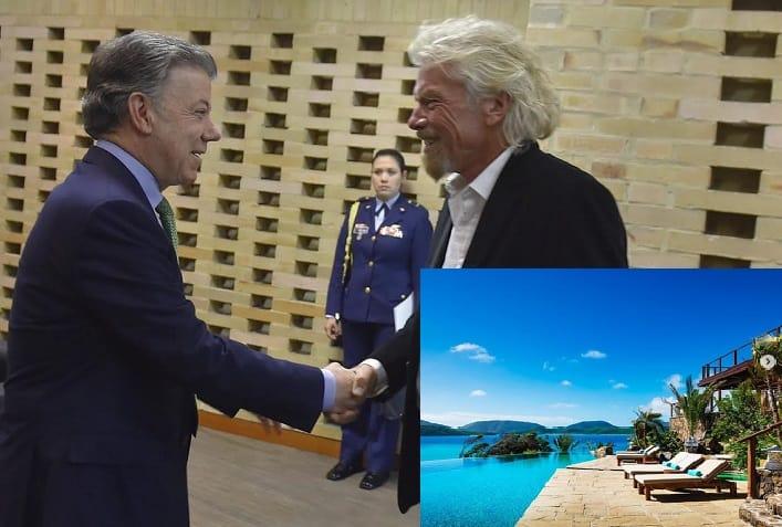 Juan Manuel Santos y Richard Branson