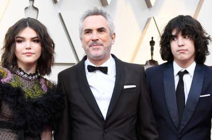 Alfonso Cuarón y sus hijos