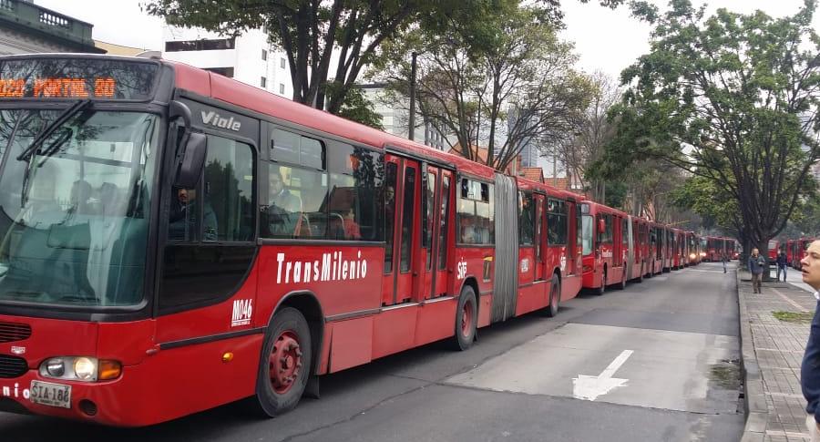 Trancón en Transmilenio