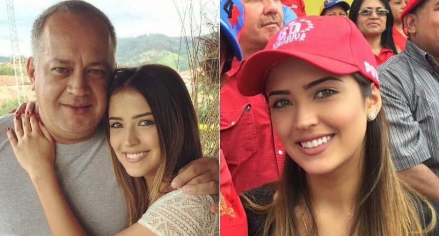 Diosdado Cabello, político chavista, y su hija Daniela.