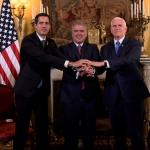 Juan Guaidó, Iván Duque y Mike Pence