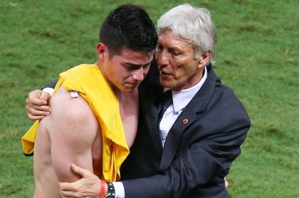 James Rodríguez y José Pékerman