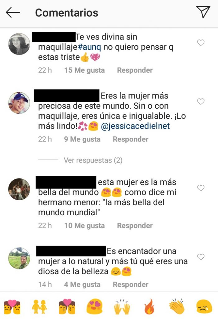 Comentarios post Jessica Cediel
