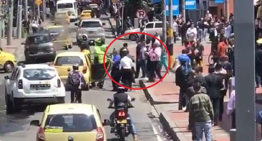 Caso de fleteo en Bogotá