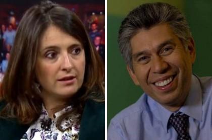 Paloma Valencia y Daniel Coronell