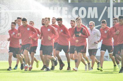 Jugadores de San Lorenzo entrenan en la Ciudad Deportiva