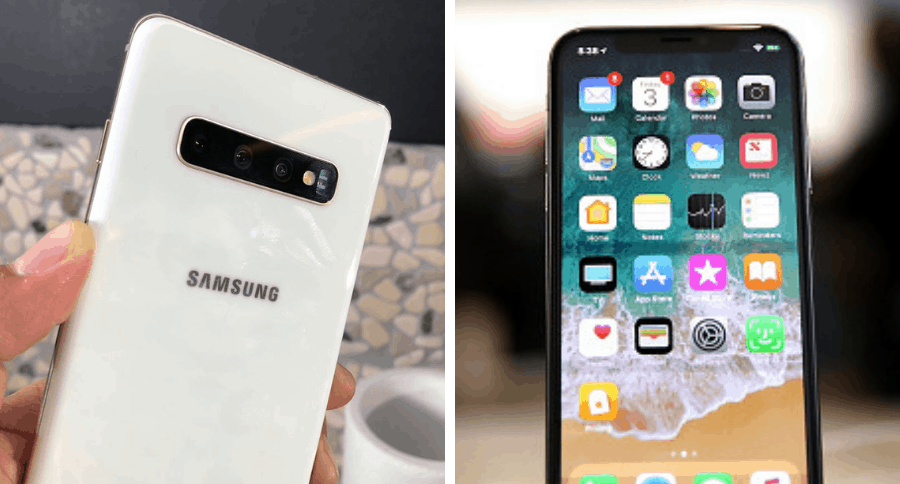 Galaxy S10 y iPhone X