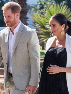 El príncipe Harry con su esposa Meghan Markle.