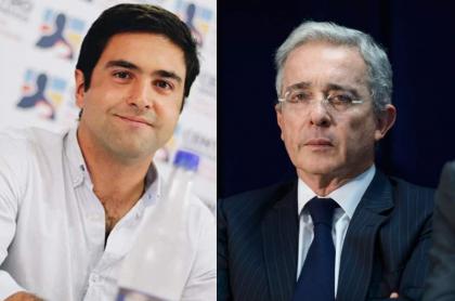 Samuel Hoyos y Álvaro Uribe