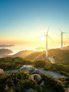 Energía eólica en las montañas