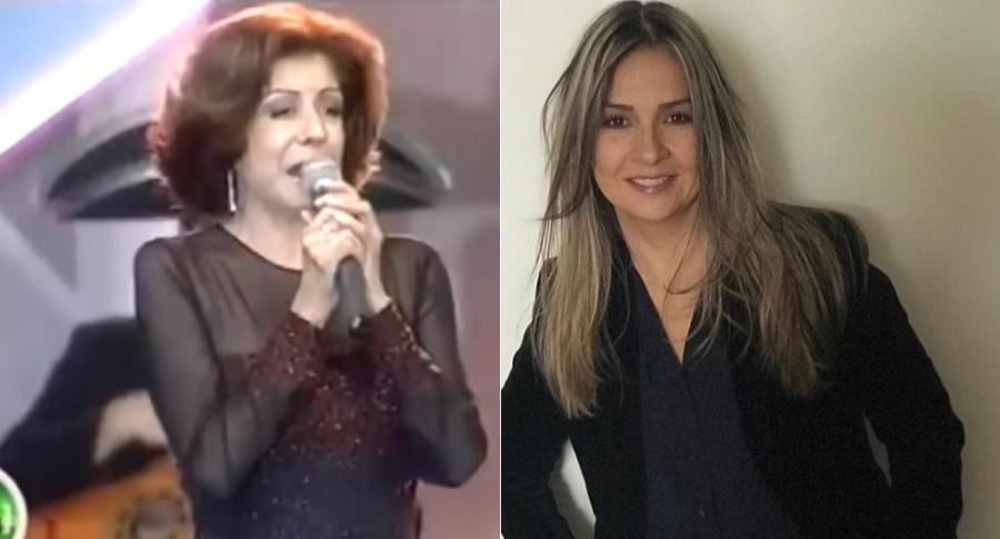 Helenita Vargas, cantante, y Vicky Dávila, periodista.