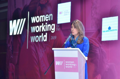 Marta Lucía Ramírez en el Foro 'Women Working for the World'