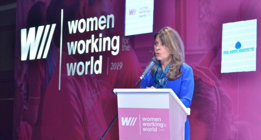 Marta Lucía Ramírez en el Foro 'Women Working for the World'
