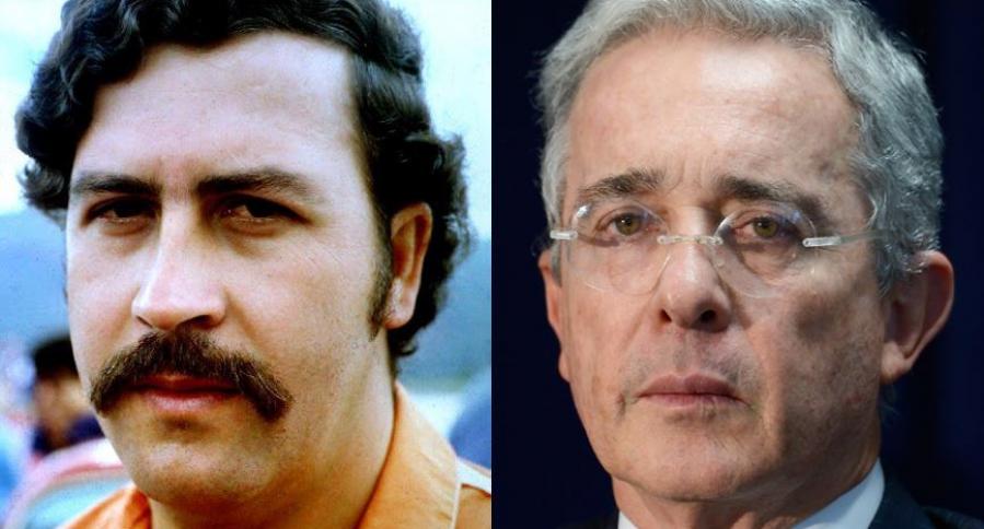 Pablo Escobar y Álvaro Uribe