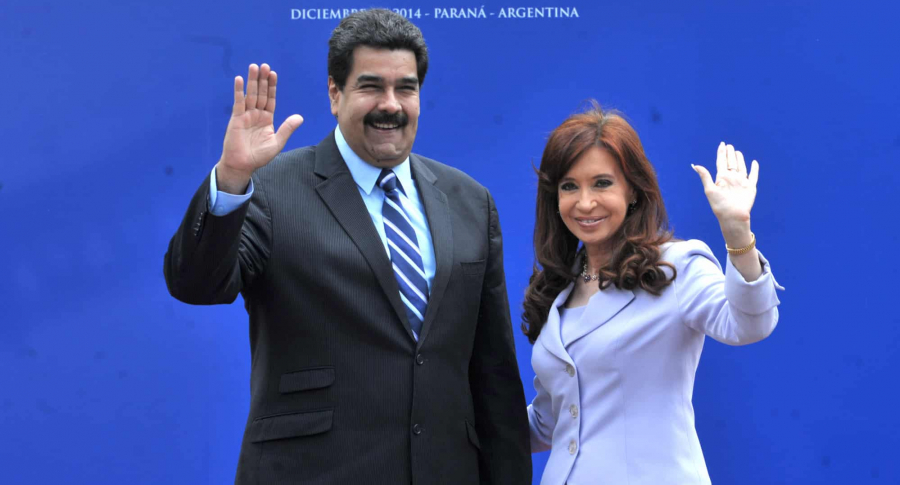 Nicolás Maduro y Cristina Fernández