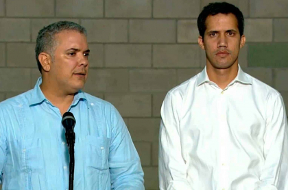 Iván Duque y Juan Guaidó