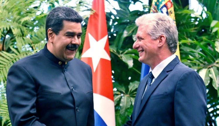 Nicolás Maduro y Miguel Díaz Canel