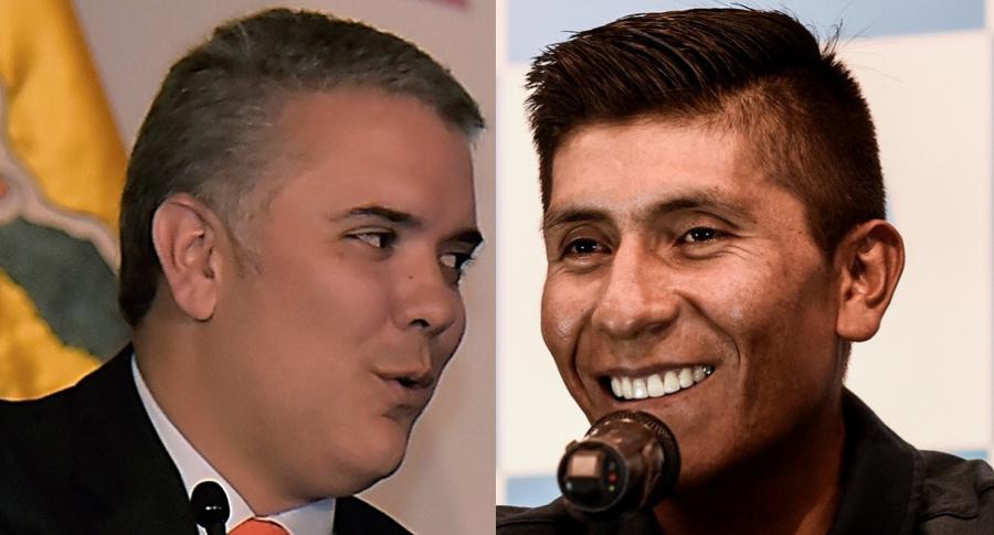 Iván Duque y Nairo Quintana