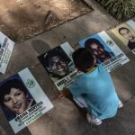 Víctimas del conflicto en Colombia.