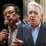 Gustavo Petro, Álvaro Uribe y Gustavo Bolívar