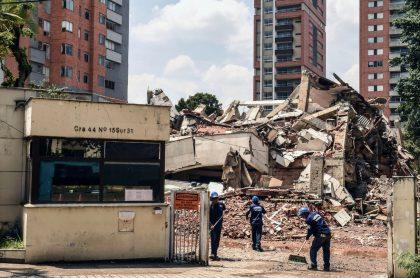 Escombros edificio Mónaco