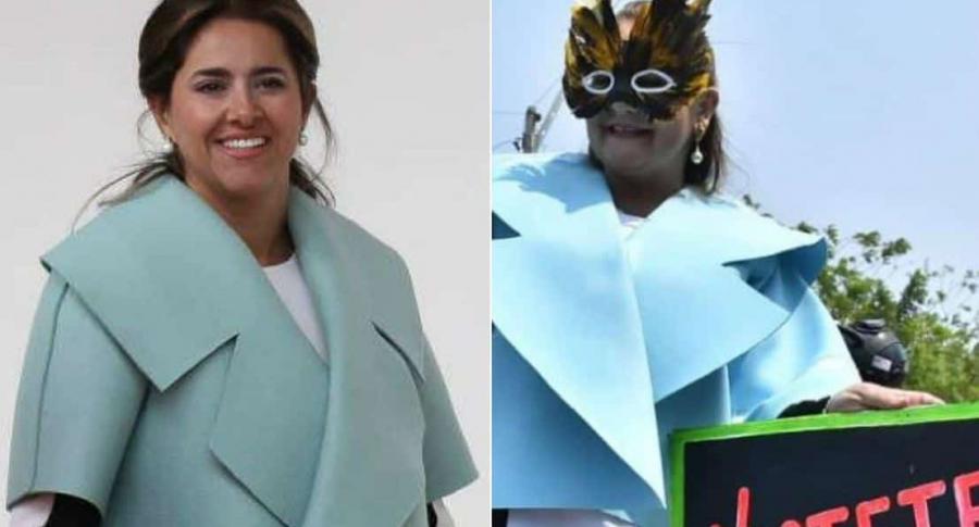 Disfraz de primera dama en el Carnaval