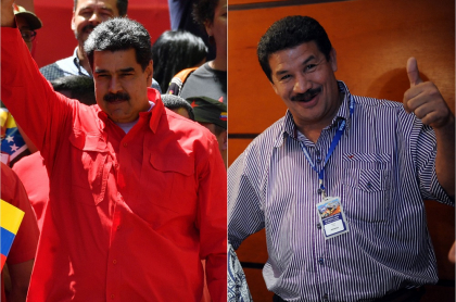 Nicolás Maduro, presidente de Venezuela, y Miguel 'Happy' Lora, exboxeador.