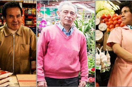 Vendedores de plazas de mercado