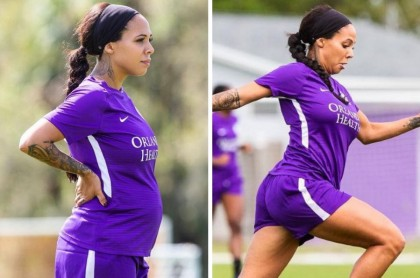 Futbolista embarazada