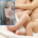 Joven desaparecida y foto de bebés