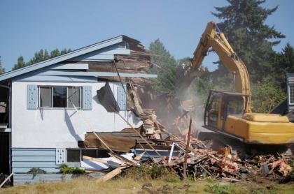 Demolición de casa.