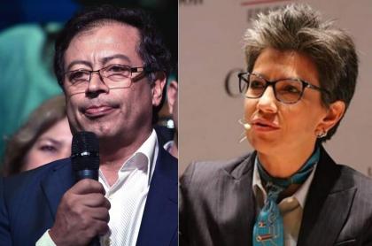 Gustavo Petro y Claudia López