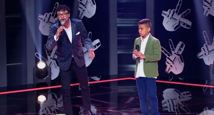 Andrés Cepeda y Óscar de 'La voz kids'