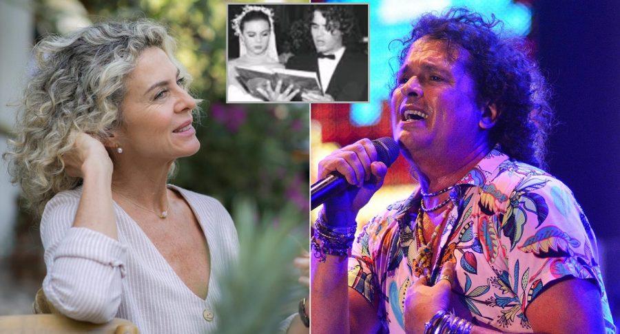 Margarita Rosa de Francisco, actriz  y presentadora, y Carlos Vives, cantante.