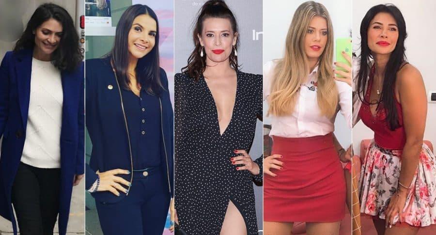Ana María Orozco, Natalia Ramírez, Angie Cepeda, Lorna Cepeda y Martha Isabel Bolaños, actrices.