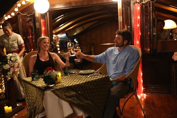 Cena romántica en el día de la mujer