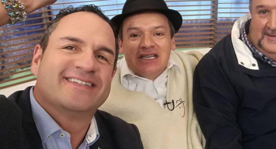 Mauricio Vélez, presentadora, y 'Don Jediondo', humorista.
