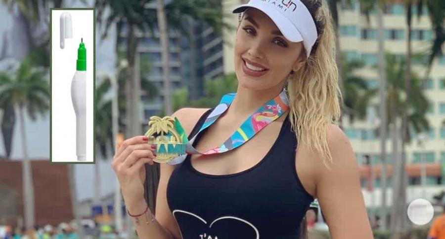 Melina Ramírez, presentadora.