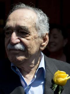 Gabriel García Márquez y logo Netflix