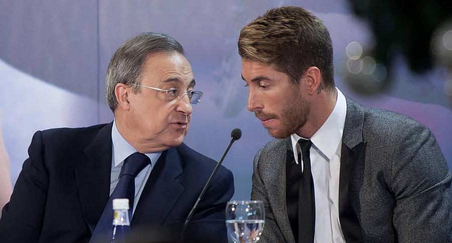 Florentino Pérez y Sergio Ramos
