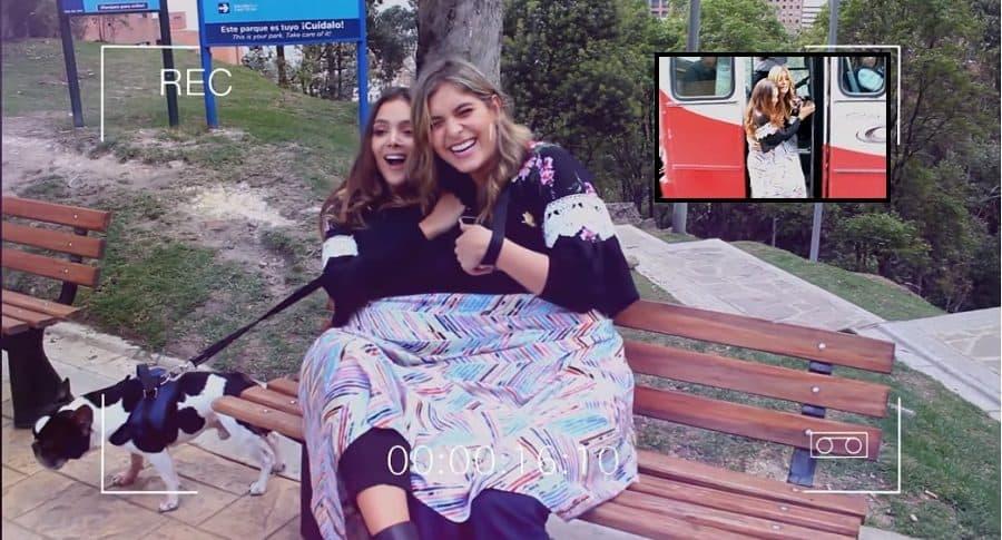María Laura Quintero, actriz, y Laura Tobón, presentadora.