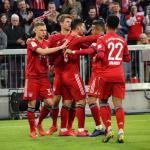 Bayern Múnich celebrando el gol de James Rodríguez