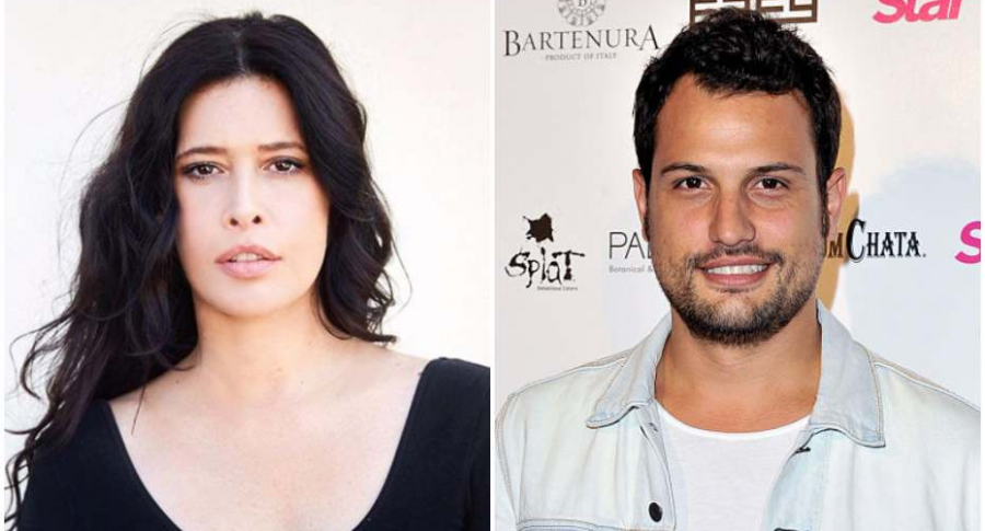 Los actores Angie Cepeda y Roberto Urbina.